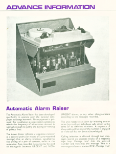 The Mk4 Alarm Autodialler from the 1960's!