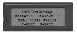 SMS Text Message Display